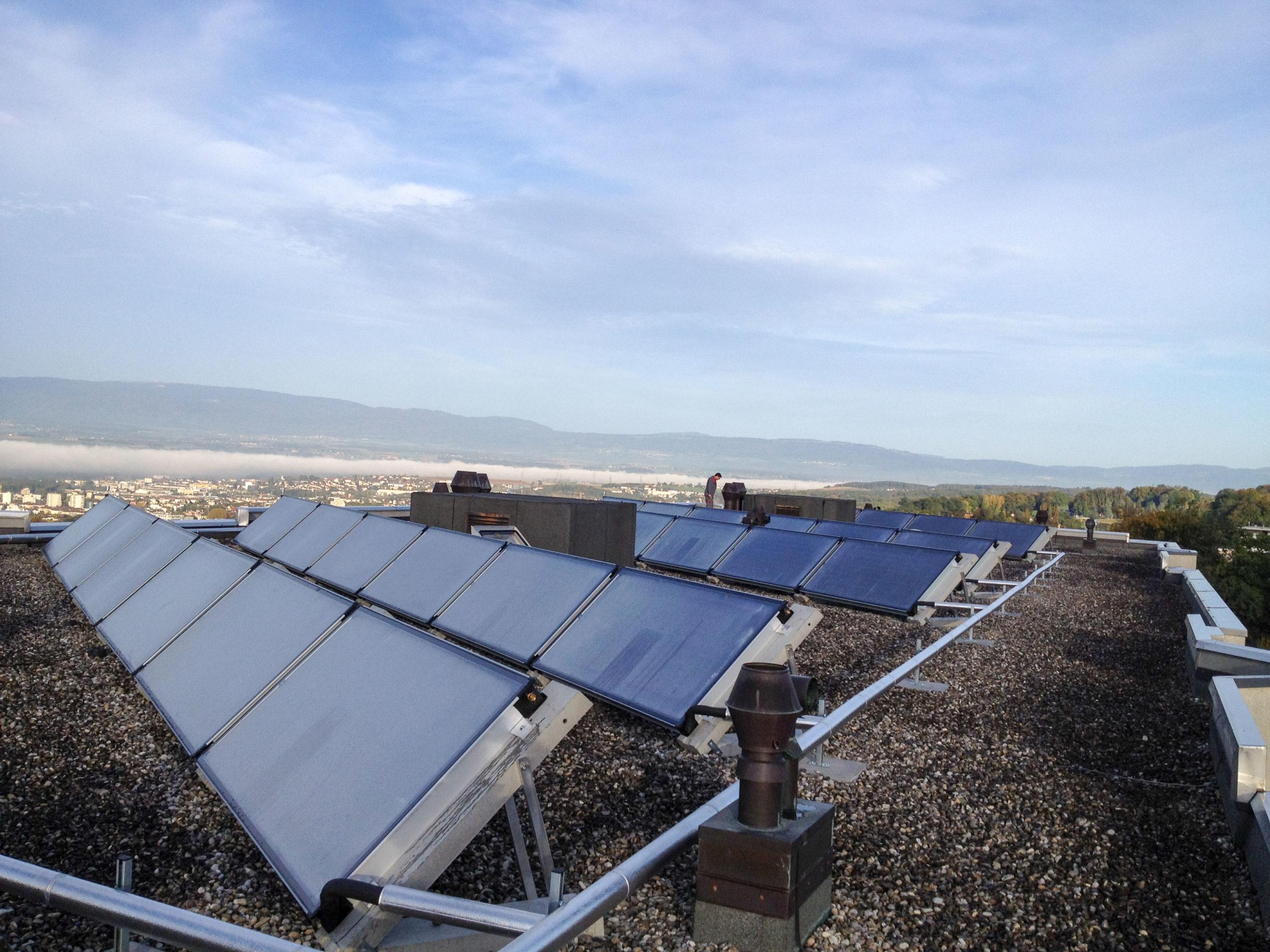 G2V : Installation de panneaux solaires à Lausanne